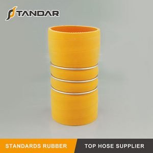 High Performance 4-Ply Polyester Reinforced  Wire Silicone Hump Hose