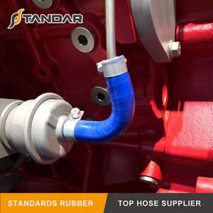 Application of 135° elbow silicone hose