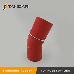 High Temperature Polyester Reinforced Wire Reducer Silicone Hump Hose